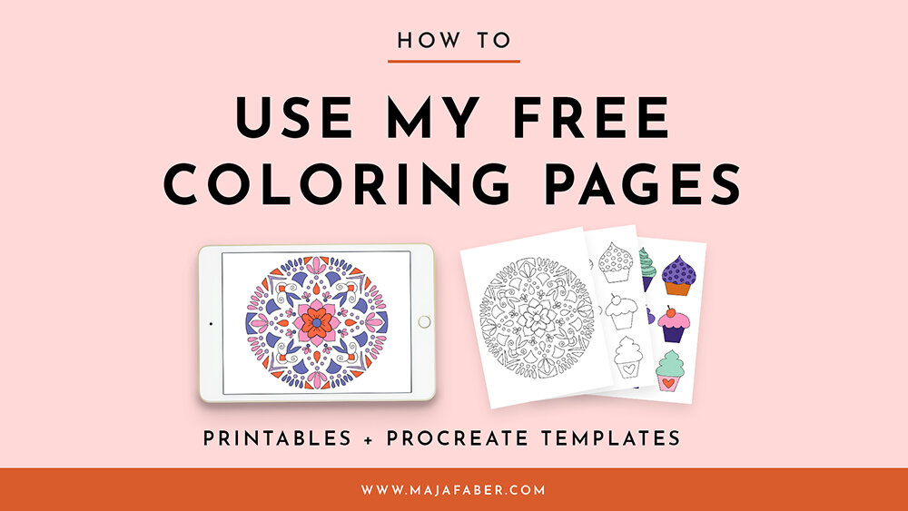How To Use My Free Coloring Pages Printables Procreate Templates