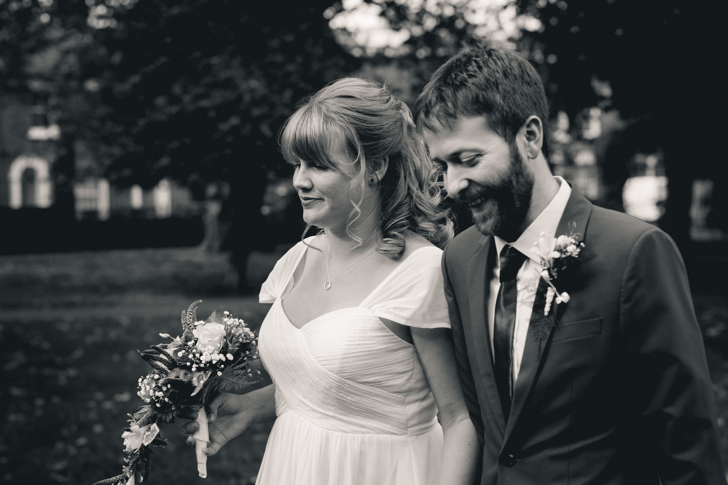 Candid Wedding Couple Portrait in Lucas Gardens, Peckham, London