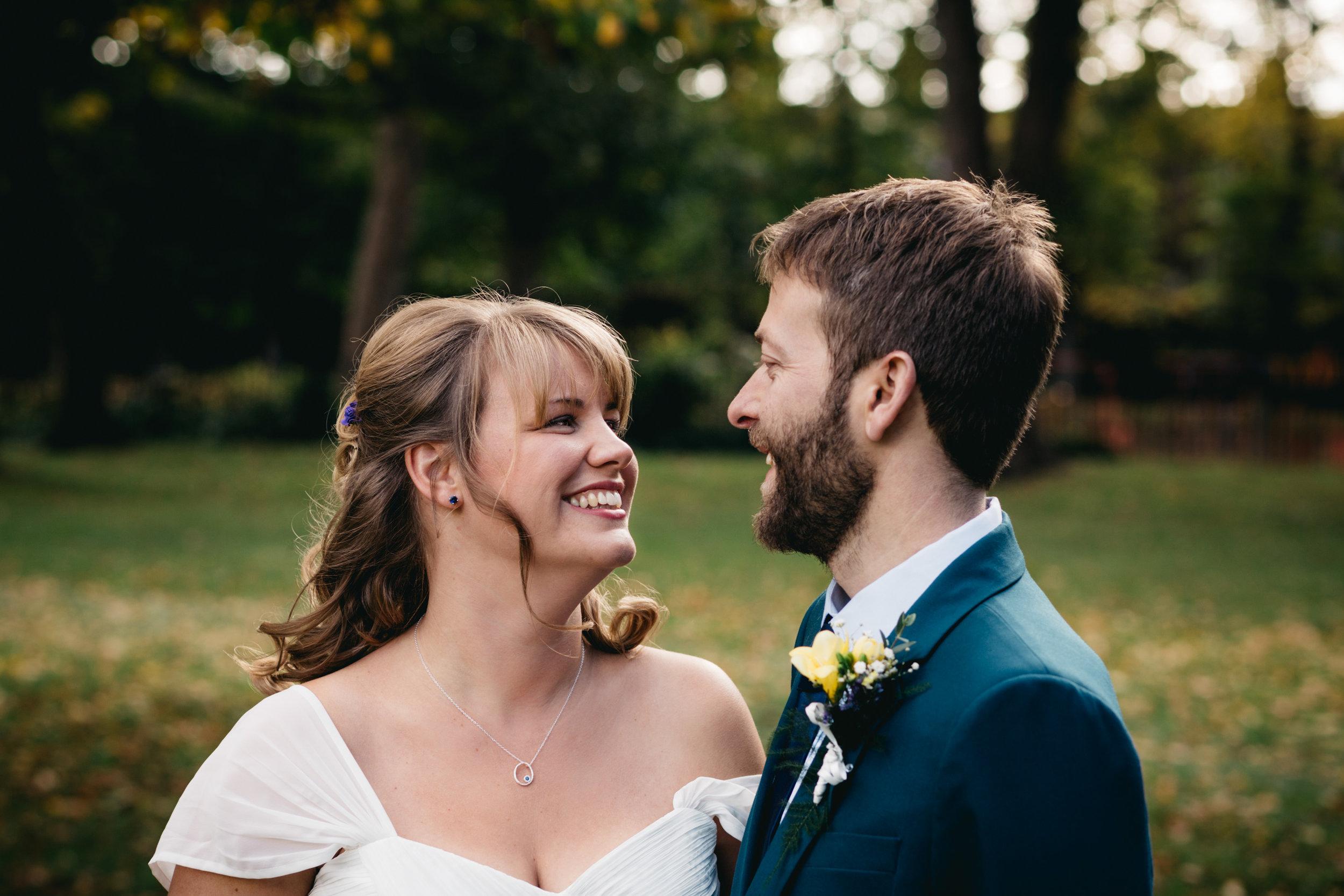 Wedding Couple Portrait in Lucas Gardens, Peckham, London