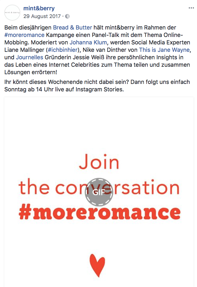 Join the conversation #moreromance.png