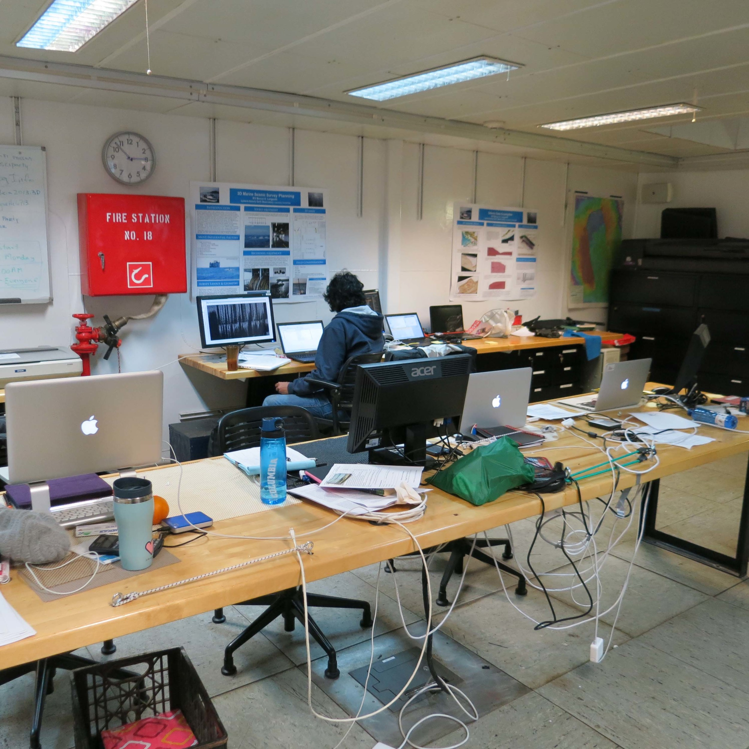 The back of the lab where most of the preprocessing and quality control is done.