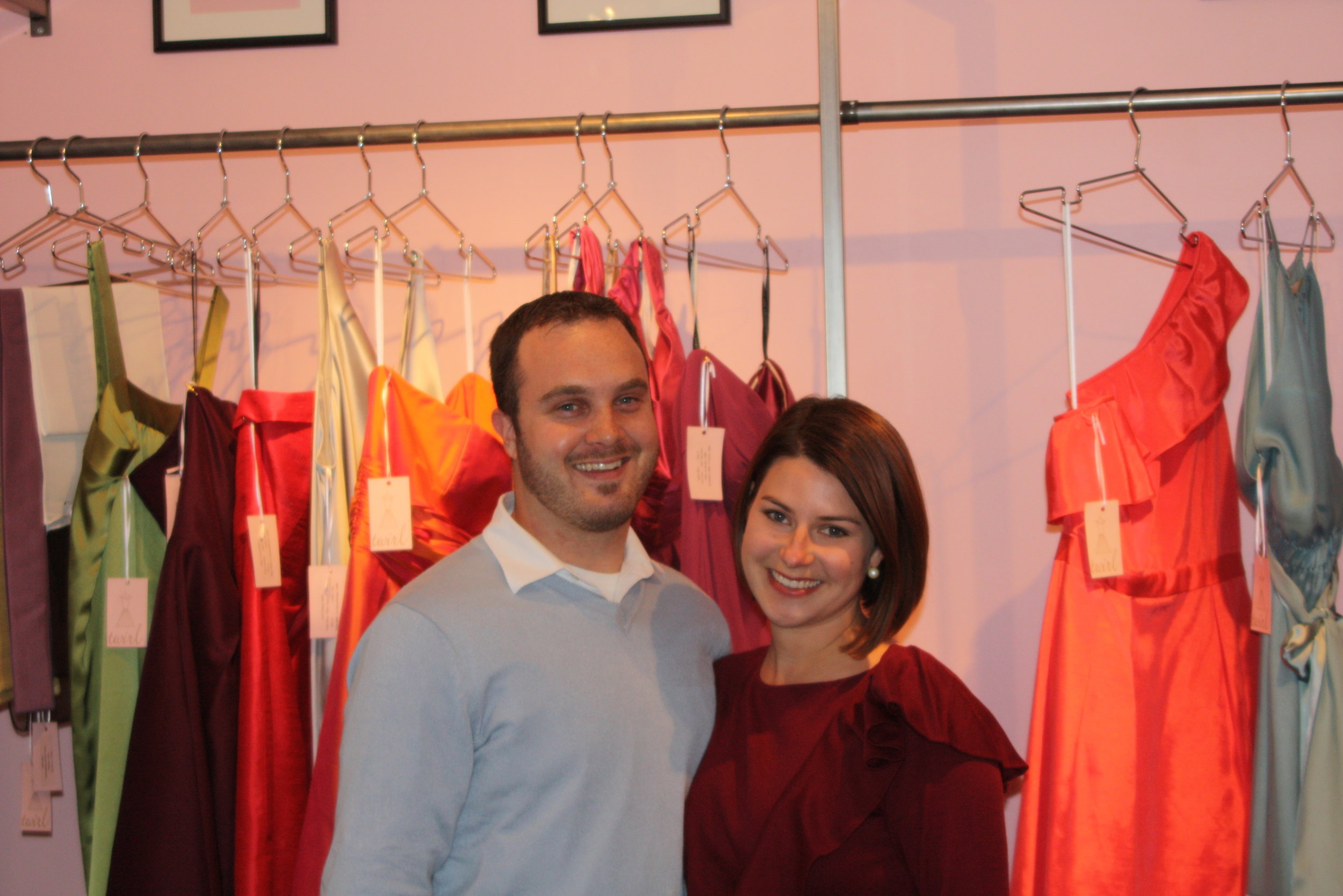Opening Day at Twirl in 2009. Newly engaged and SO young!
