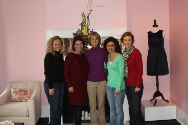 My very first appointment and customers at Twirl. Thankful for such a supportive friend group!
