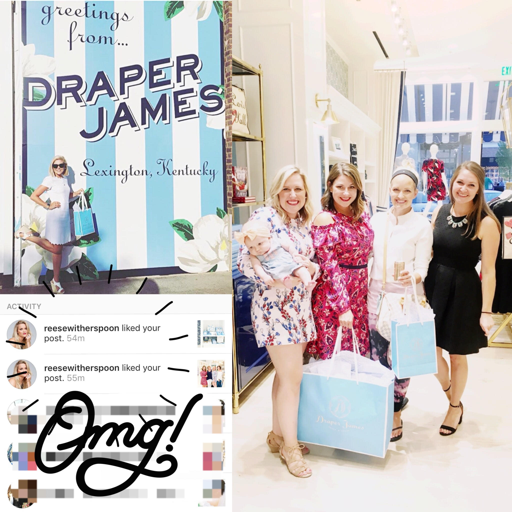 And a couple little iPhone snaps from the night! For those of you who don't know, Draper James was founded by Reese Witherspoon.. hence why we adore it so much. We FREAKED THE FREAK OUT when she liked our posts on Instagram about the event. #FANGIRLSOHARD