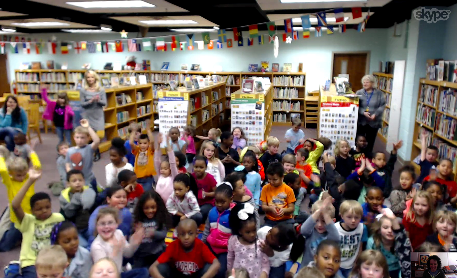 These students in Hartwell Elementary School in Hartwell, GA had some excellent questions about how I make my illustrations.