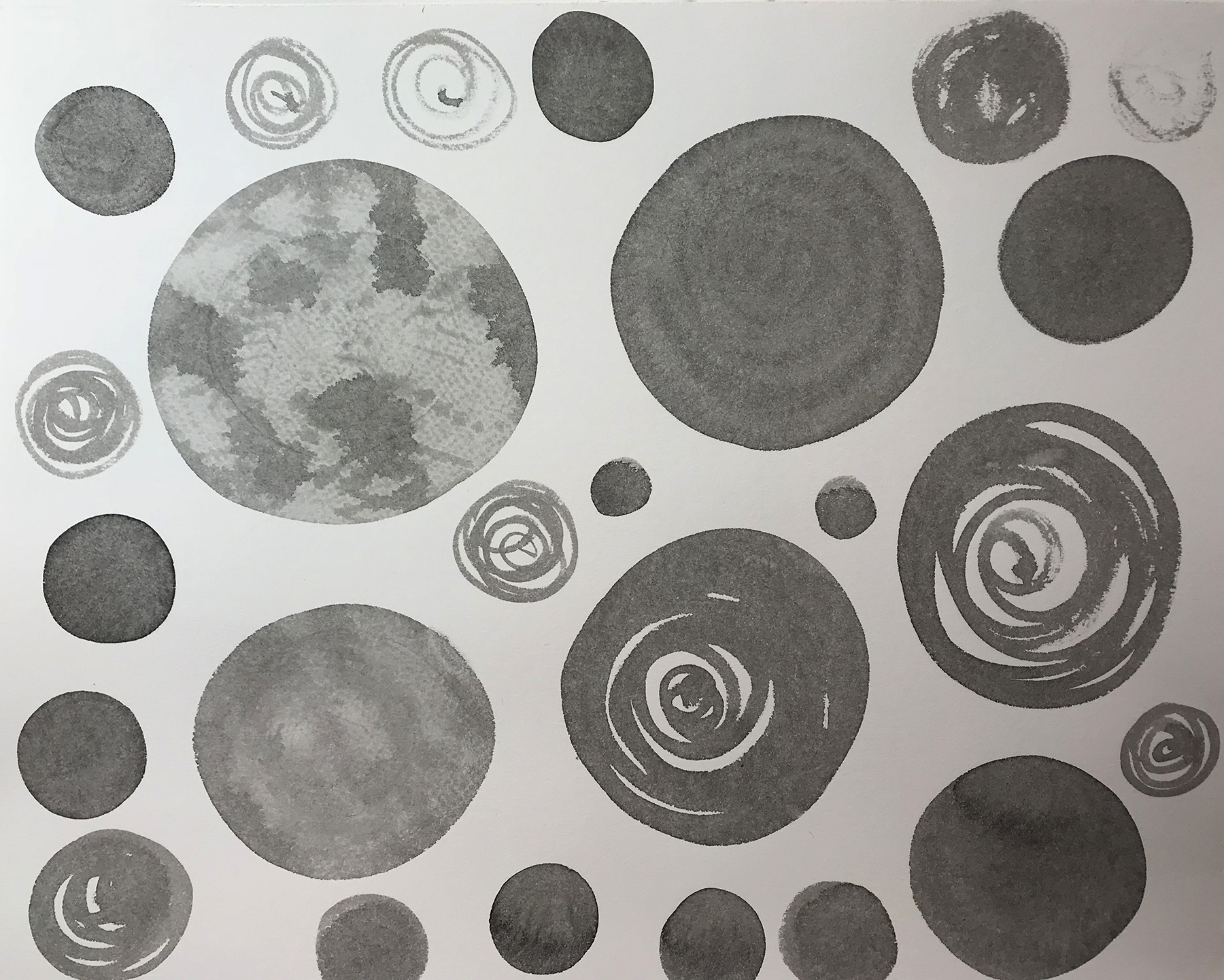 In the beginning, there are many circles...