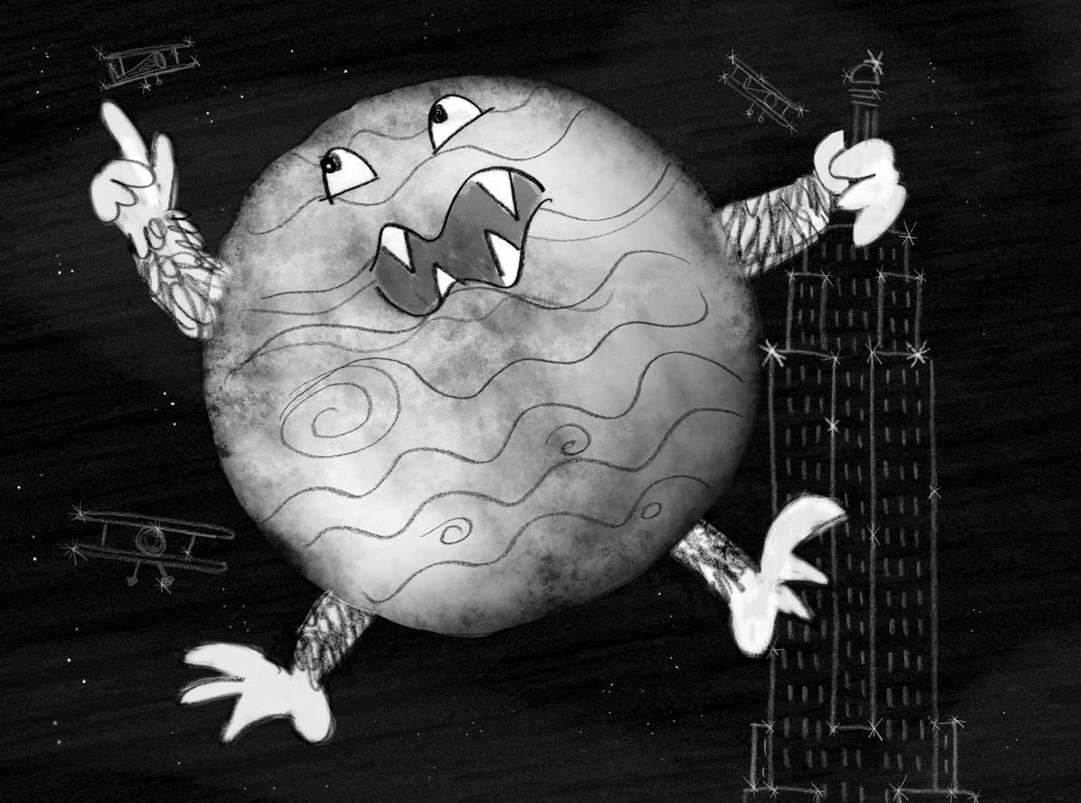 Here's the original sketch of Jupiter...