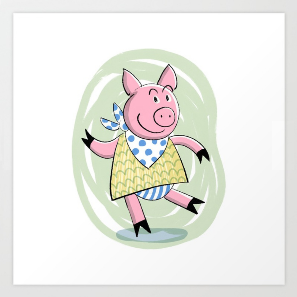 Dancing Piggy print