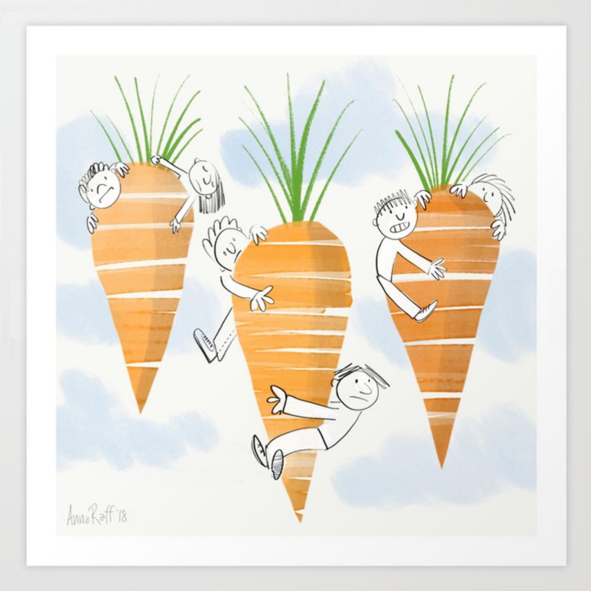 Flying Carrots print