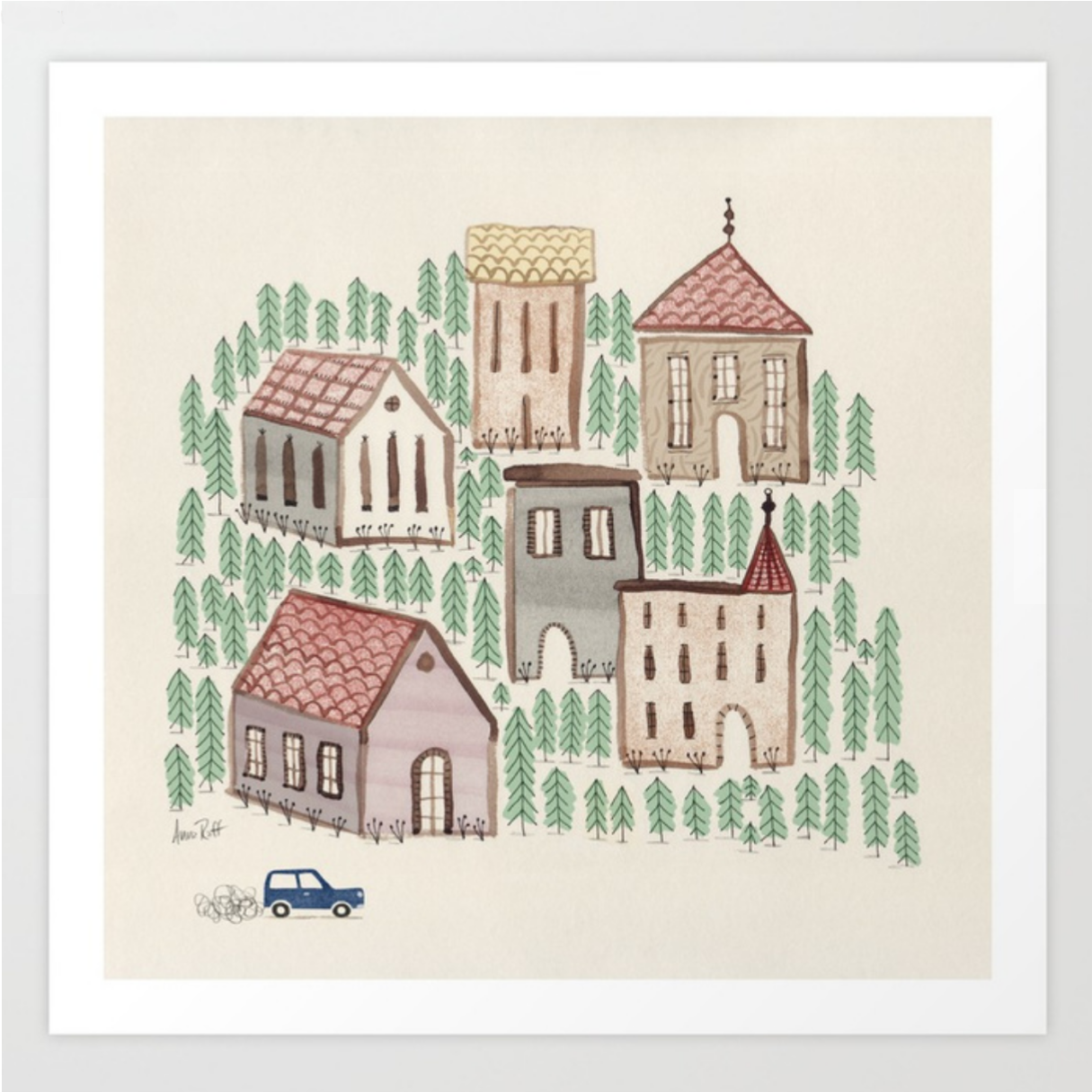 The Village print