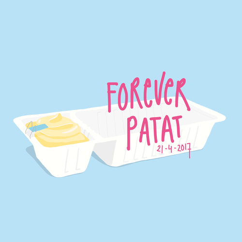 FOREVER PATAT - Exhibition at Dapp FrietwinkelAbout fries and related mattersSpring 2017Presented by The Hague Street Art