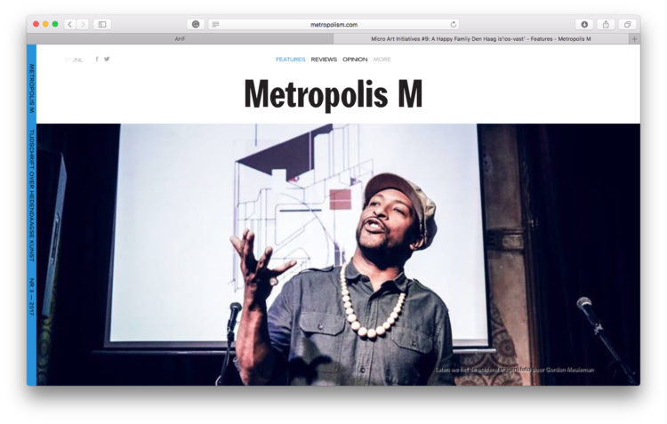 Metropolis M - An interview with Lotte van Geijn about A Happy FamilyGo to page...Summer 2017