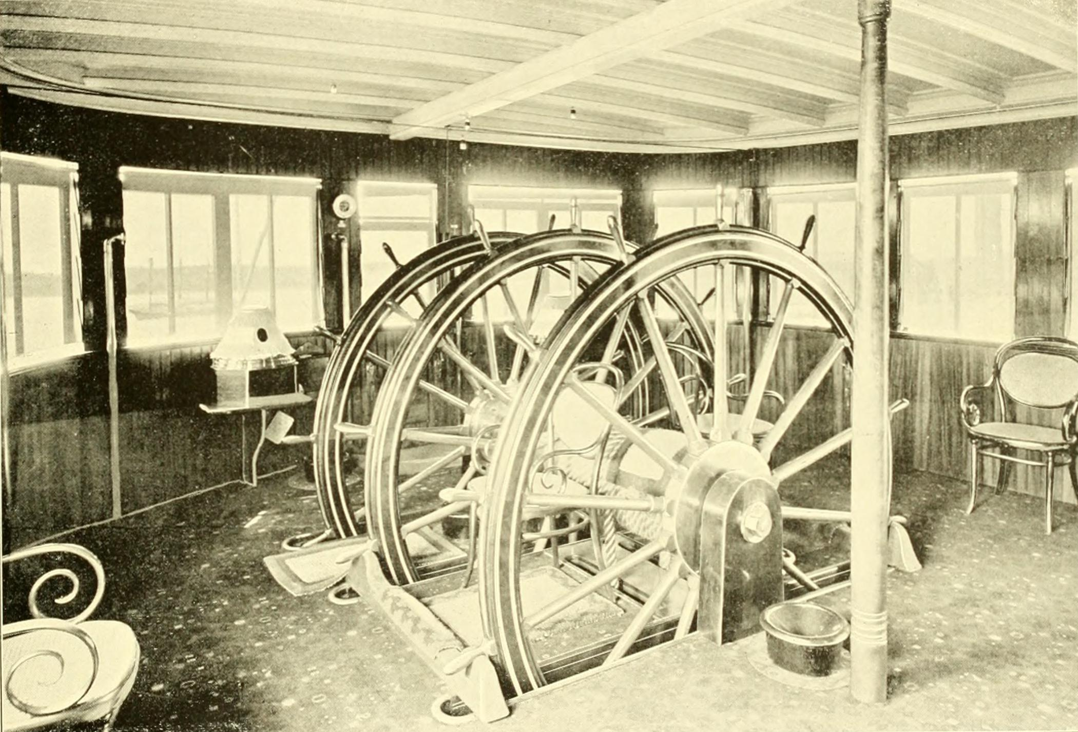 PILOT HOUSE OF A STEAMSHIP - 1899