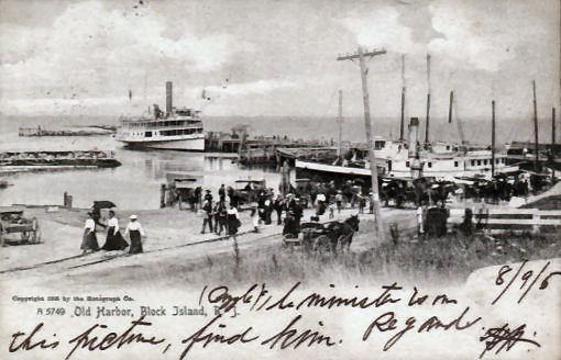 BLOCK ISLAND, OLD HARBOR - 1905