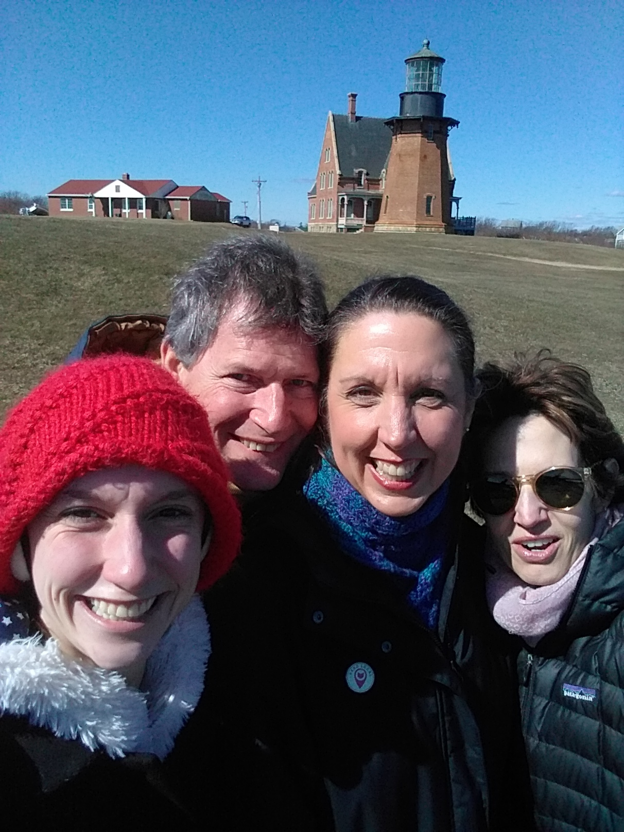 Laura, Chris, Me, and Catherine at Block Island's North Light