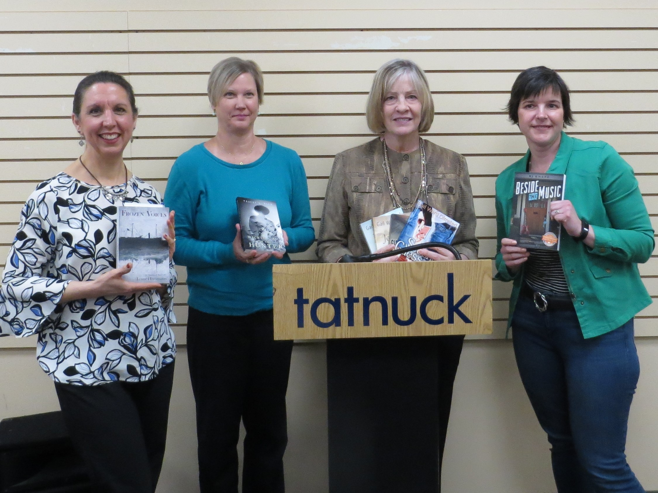 Me, Tracey, Gail, BJ, and our books!