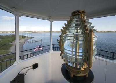 The Lighthouses Fresnel Lens                             Photo courtesy of the Rose Island Lighthouse Foundation