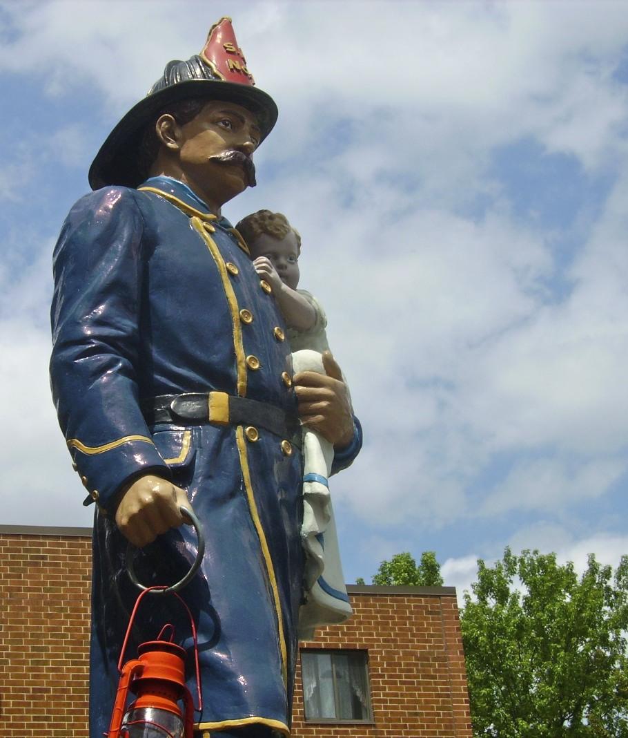 Fireman Statue in Slatington, PA  Photo courtesy of Slatington.org