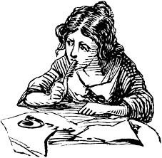 Woman Writer Clip Art.png
