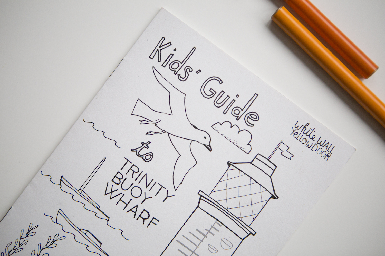 Front cover of our Kid's Guide to Trinity Buoy Wharf, 2015