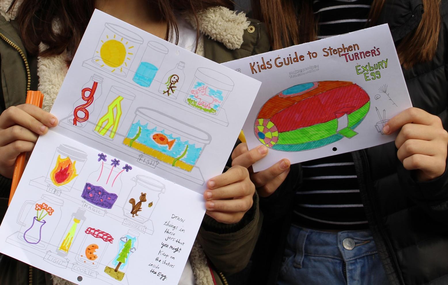 Kids' Guide to Stephen Turner's Exbury Egg, Trinity Buoy Wharf, January 2017