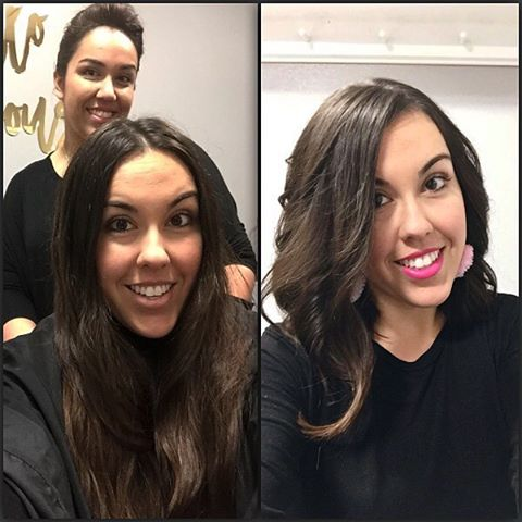 My lovely sister @leilaklewis cut 10 inches off and donated it to locks of love . So privileged to be the one to make it all happen . And she rocks this edgy look better than any mommy I know !!!! #latepost #sister #mommy #edgy #lob #longbob #coolmommy #haircut #locksoflove #glamondemand #mynewstudio #424beauty