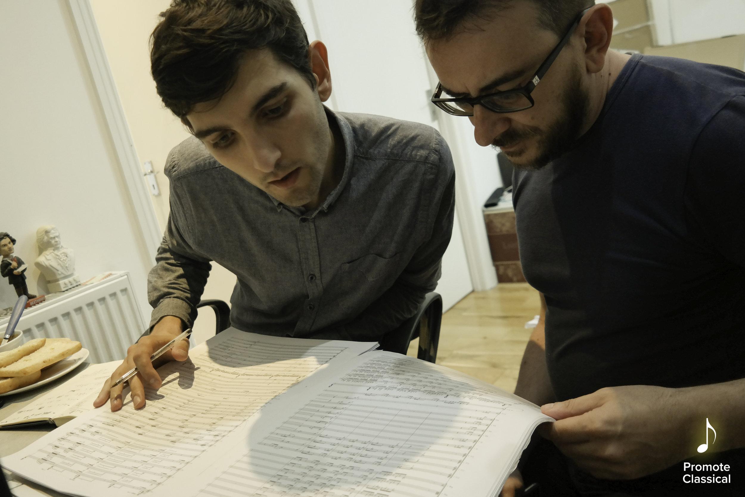 Vito with Session Co-Producer Andrea Boccadoro