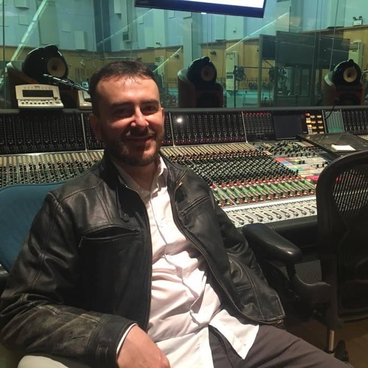 Vito Palumbo,  in the Studio 1 of the Abbey Road Studios.