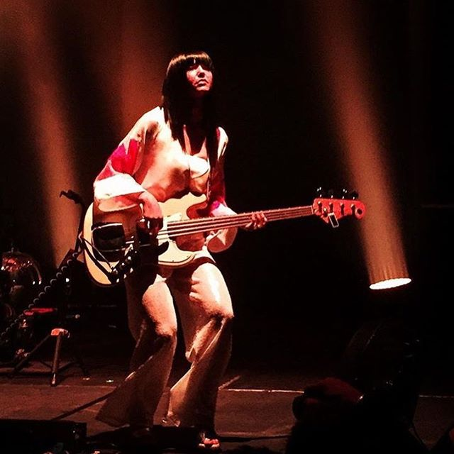 @khruangbin last night! @lauraleezy wearing RL custom 😍💖🤠😭 best gig ever, absolute treat #khruangbin #rachellovelock