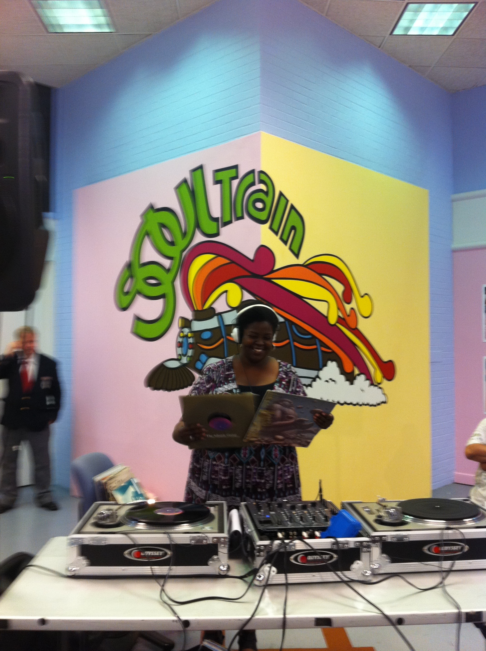Music Producer, Curator for Soul Train 40th Anniversary DJ Series at the Chicago Visitor Center. DJ Clerical Error in photo.