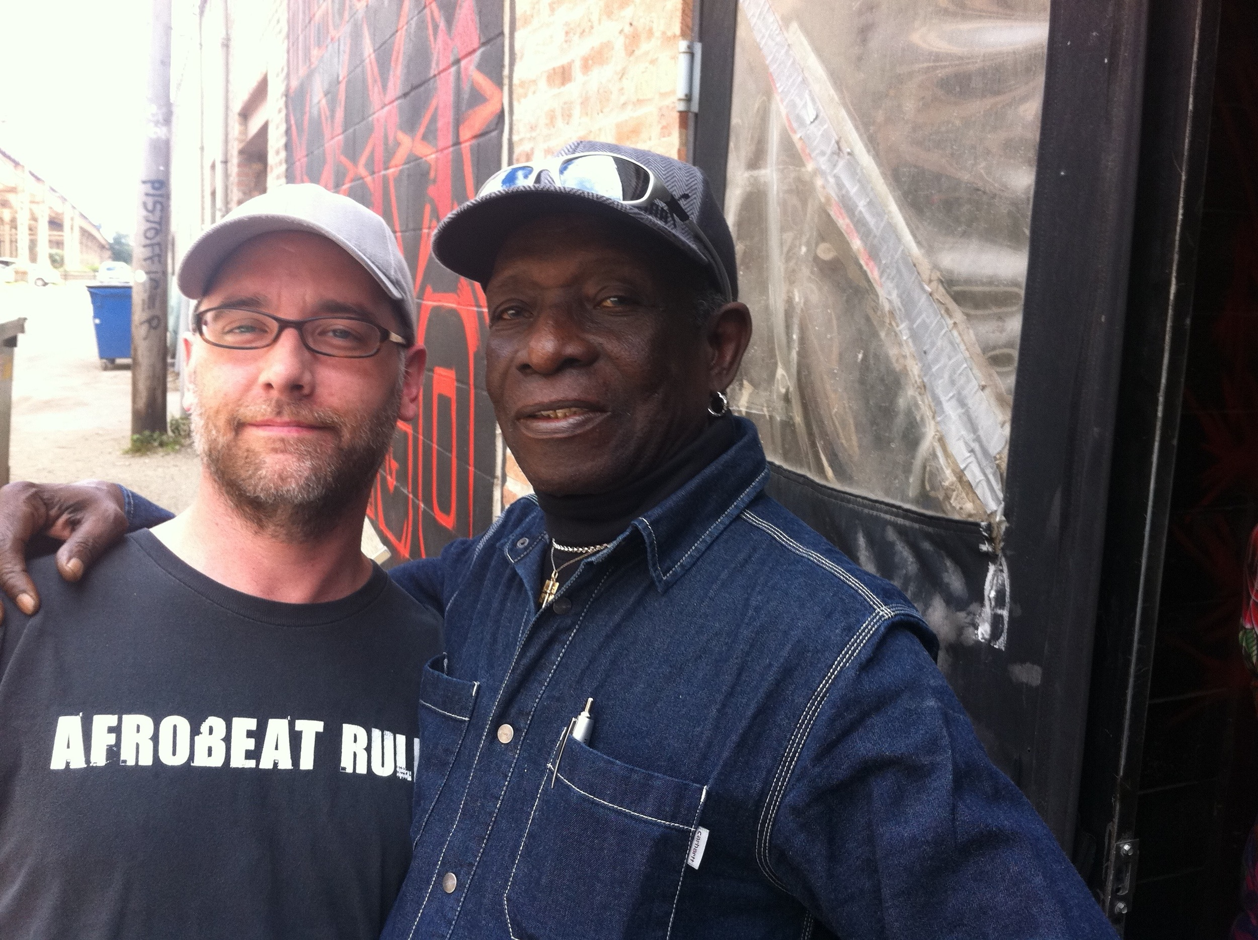 With Afrobeat founder and Fela Kuti drummer, Tony Allen