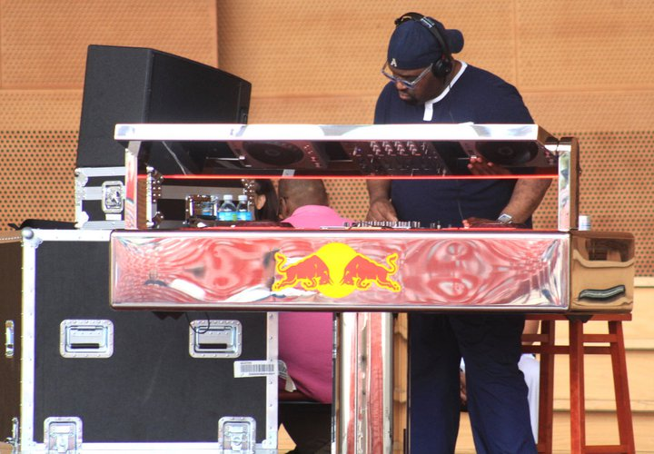 Event Producer and Co-Curator for Audio Picnic music series at the Jay Prizker Pavilion in Millennium Park. Red Bull Music session with DJ Frankie Knuckles in photo.