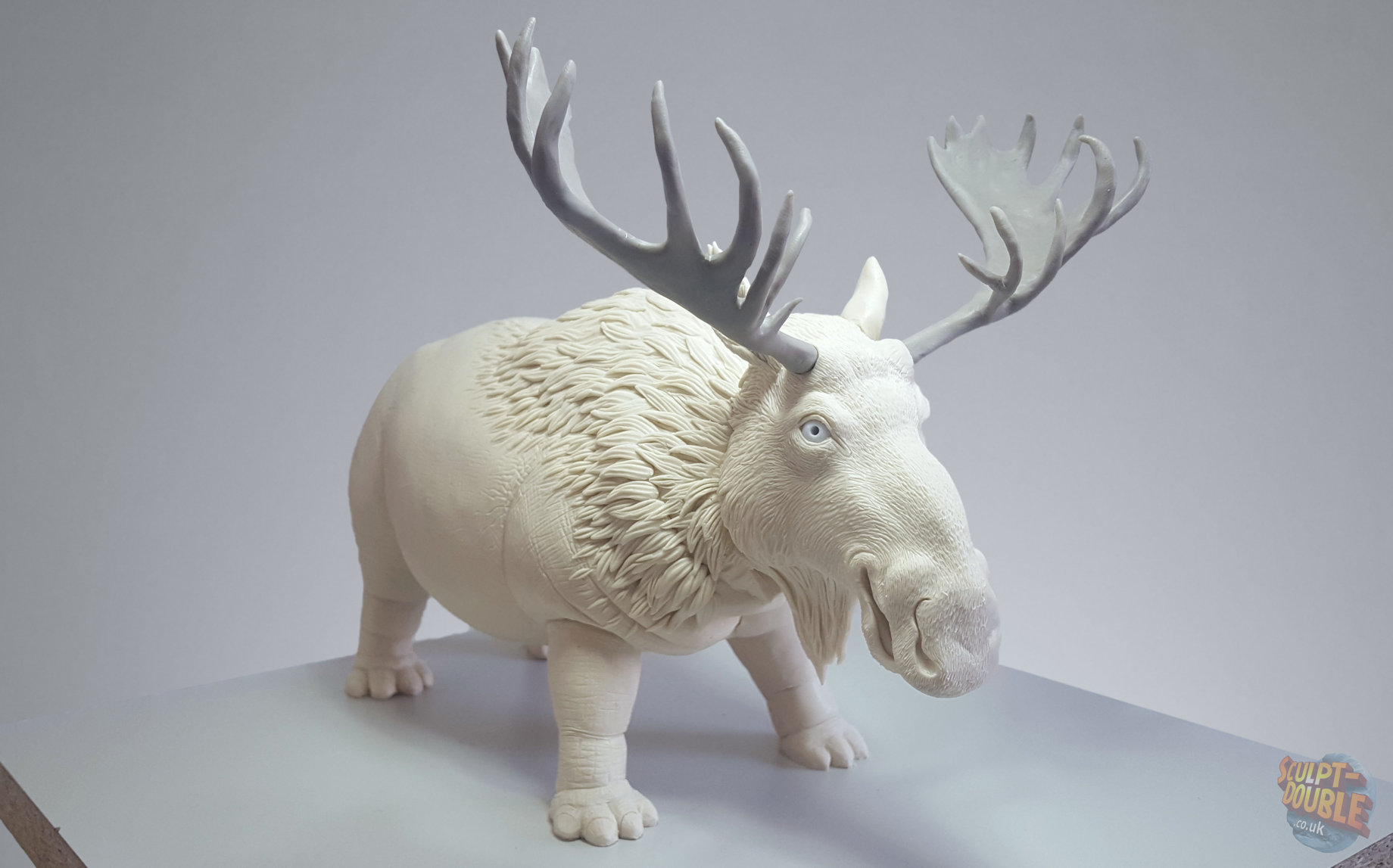 Hippopotamoose clay sculpt.  By Joshua Flynn