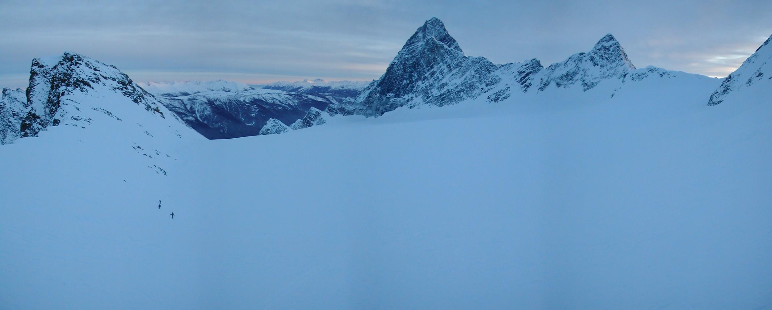 Last push. High on the Avalanche Glacier.