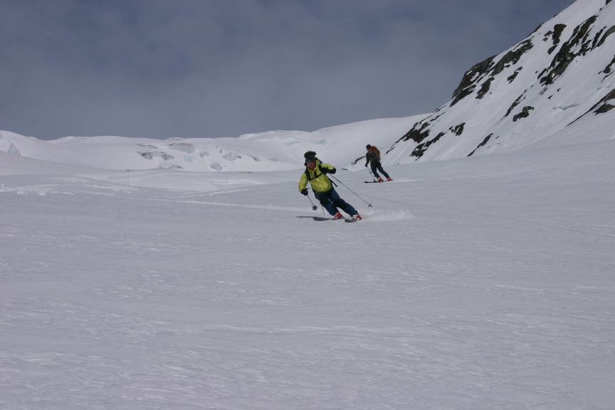 Skiing off the Beaver Headwall | IMAGE ©Troy Jungen