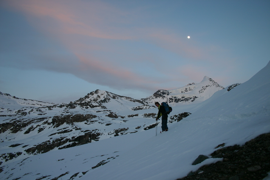 Gaining the Carbonate Icefield | IMAGE ©Troy Jungen