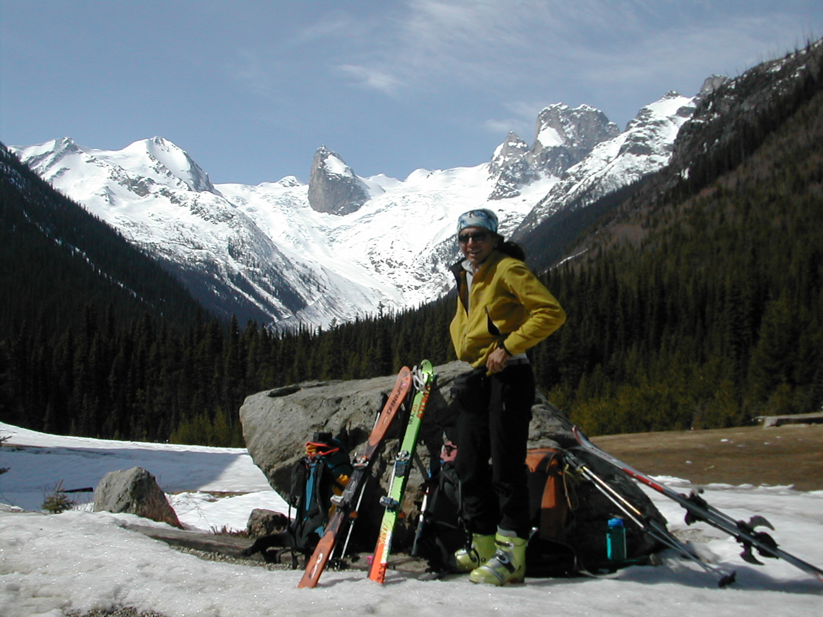 The End of the tour at Bugaboo lodge