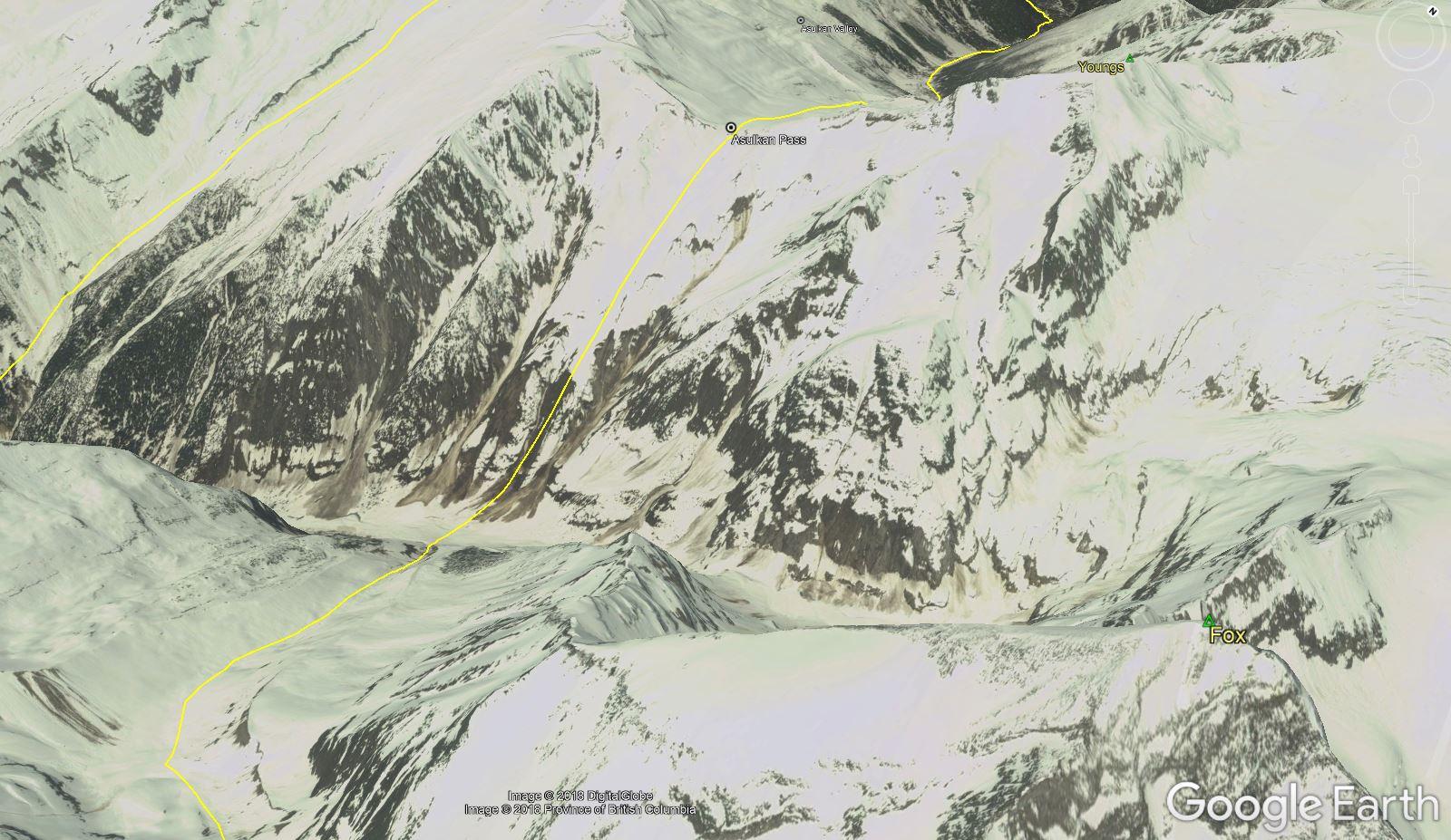South Face of Asulkan Pass