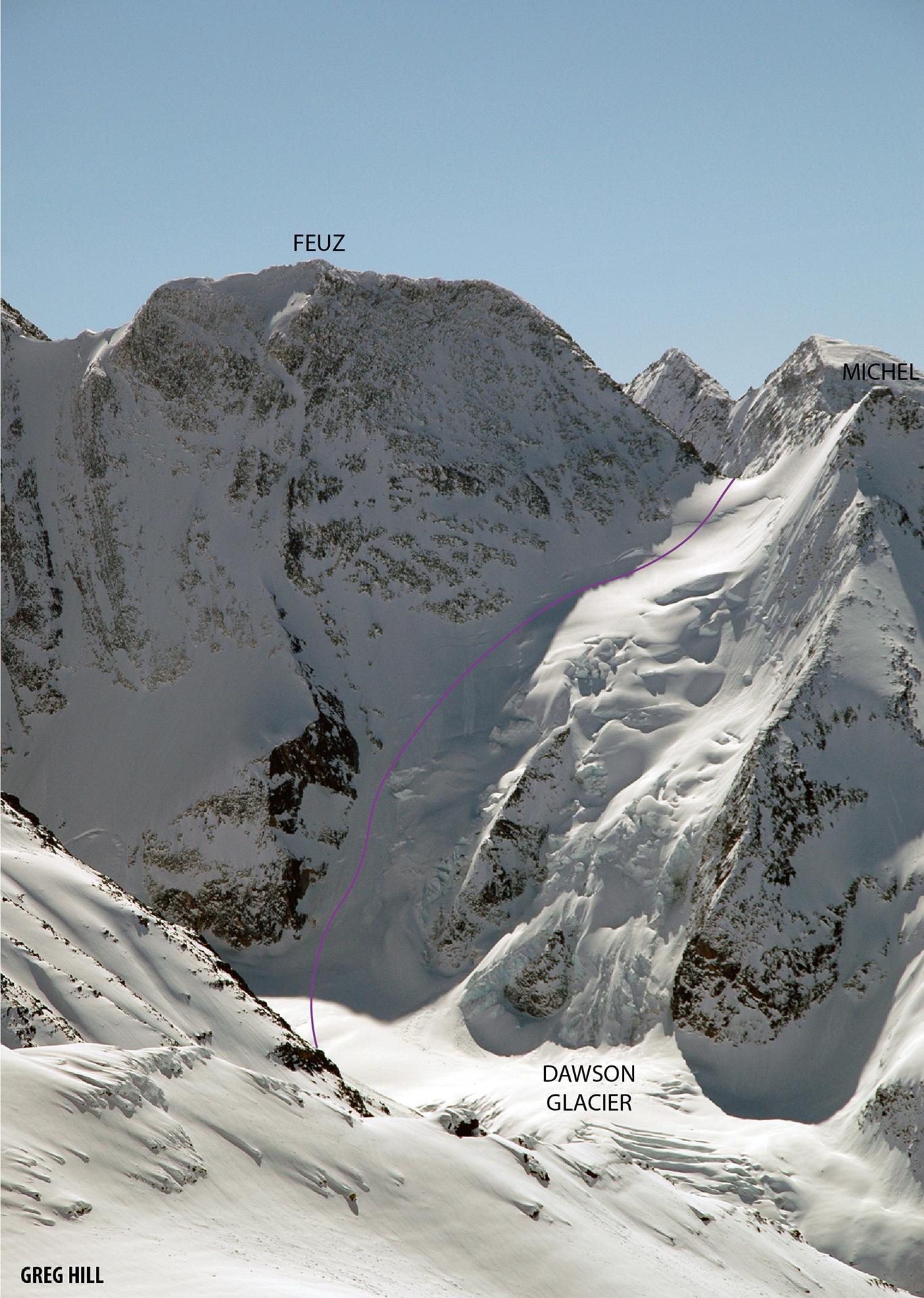 Feuz Peak Northwest Glacier/Face