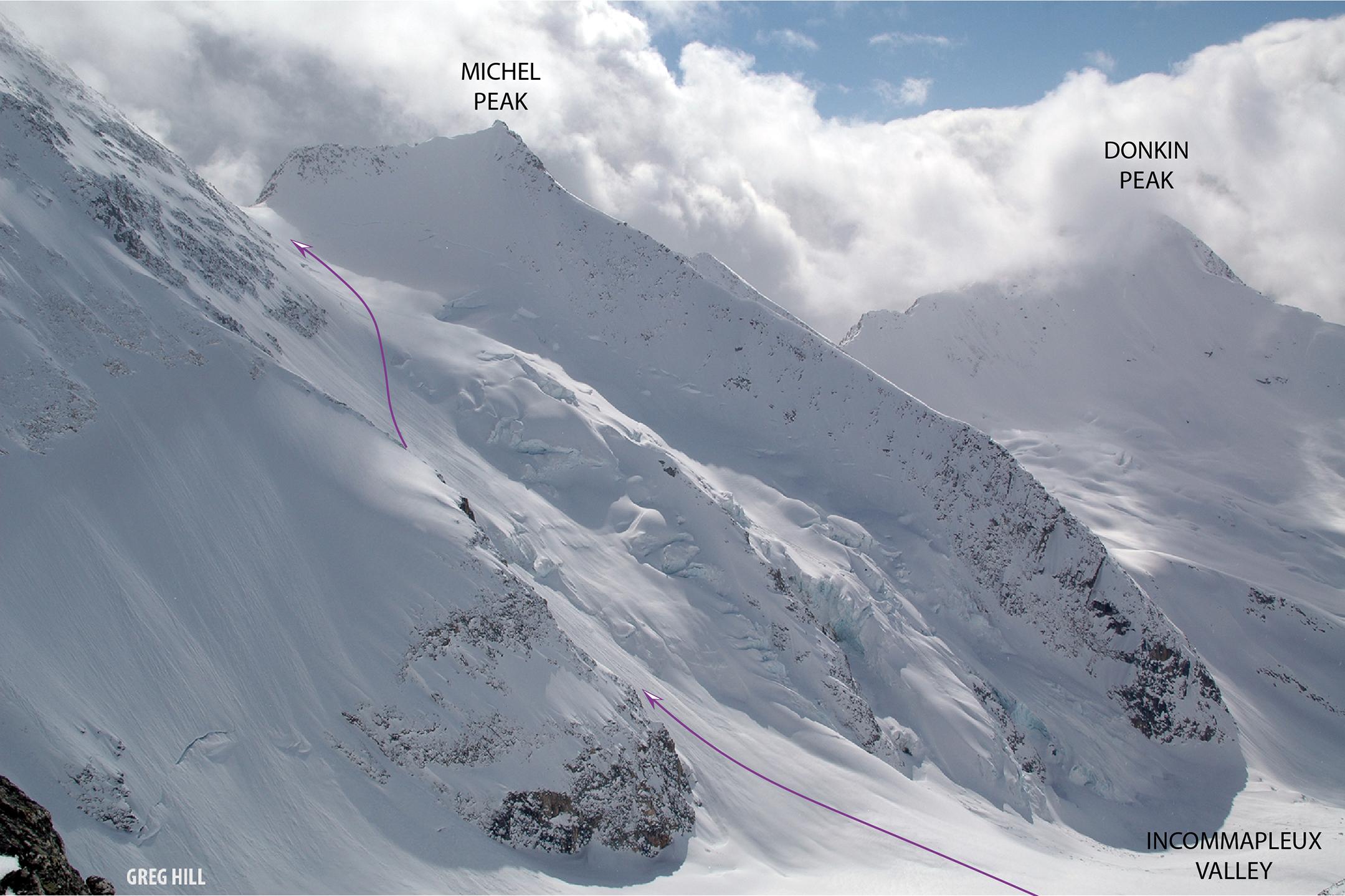 Feuz Peak Northwest Face with a deeper snowpack