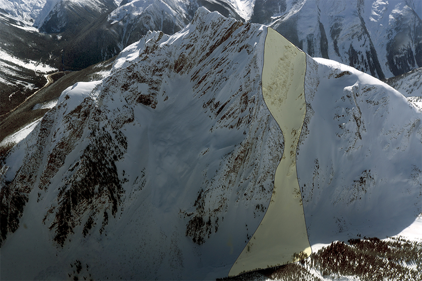 The 2003 STS avalanche outlined