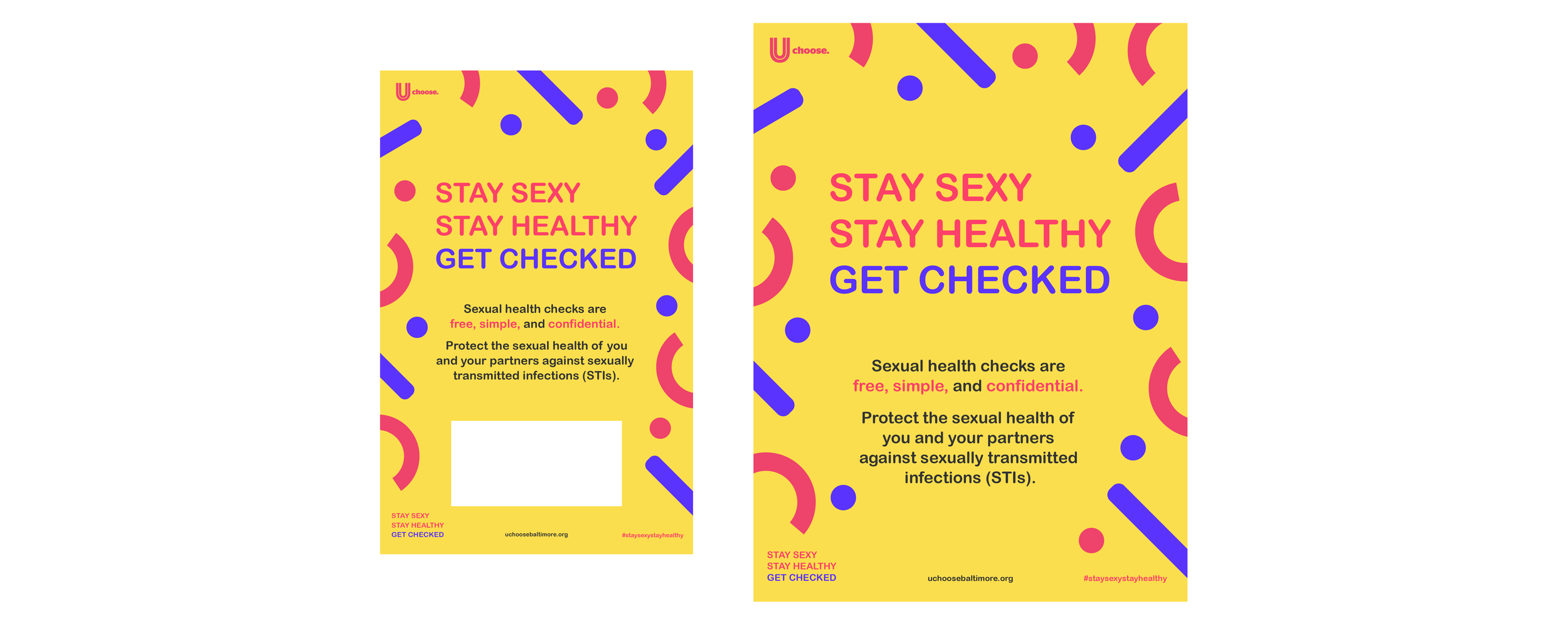 Stay Sexy, Stay Healthy Branded Posters