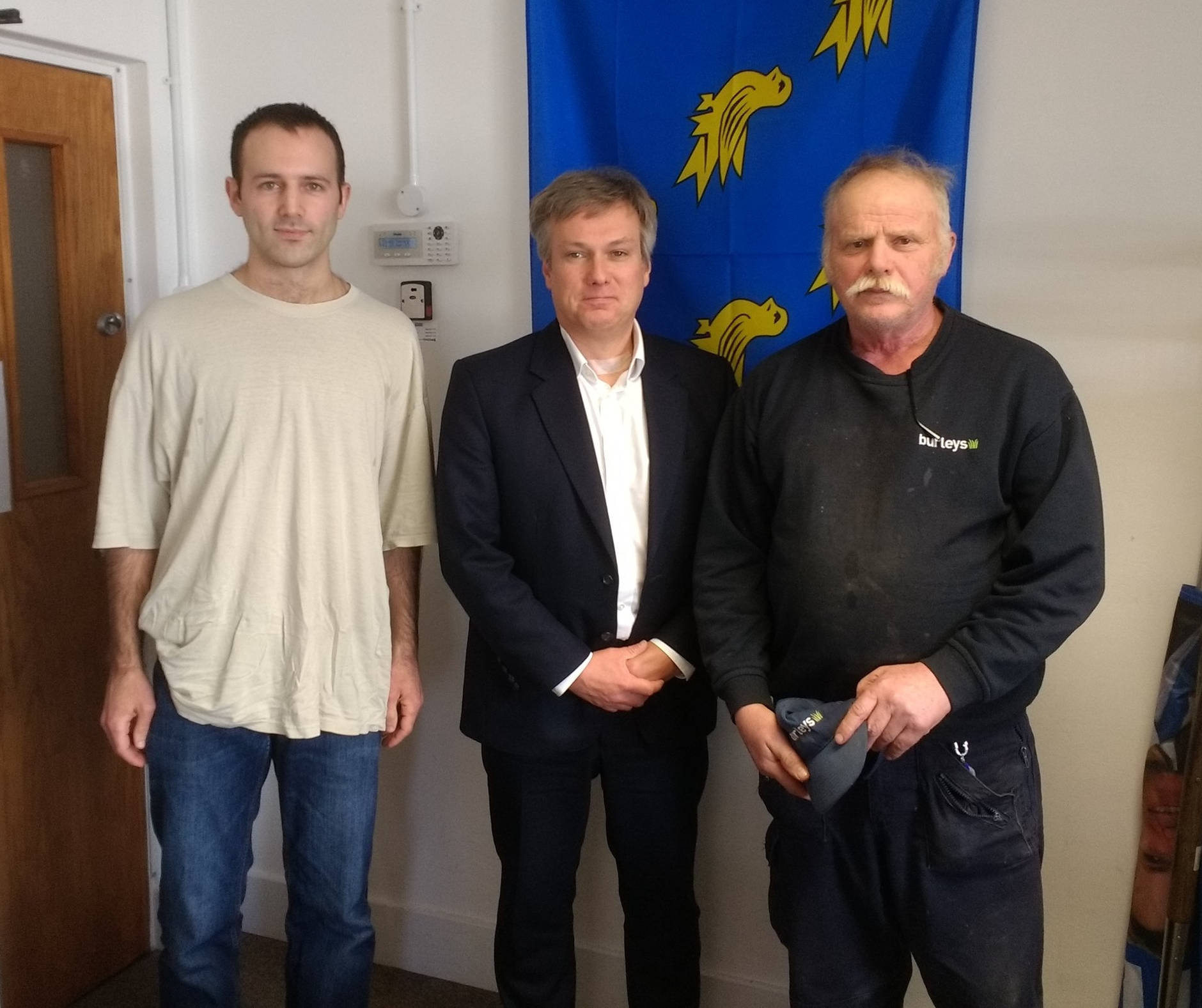 Tim Iverson and Jeremy Peck with Henry Smith MP.jpg