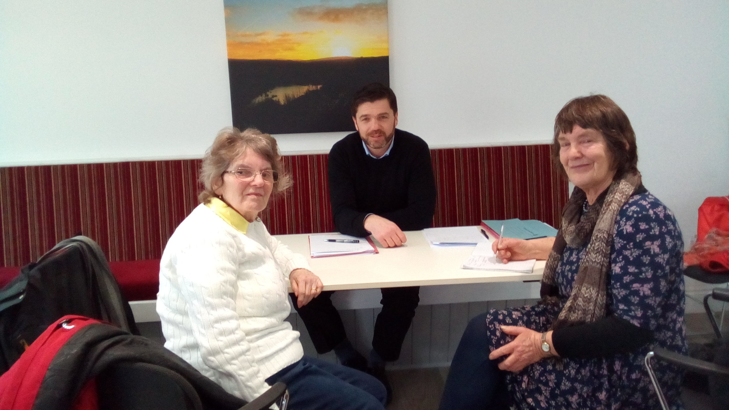Stephen Crabb, Conservative MP for Preseli Pembrokeshire met with Vicky and Lisa in January