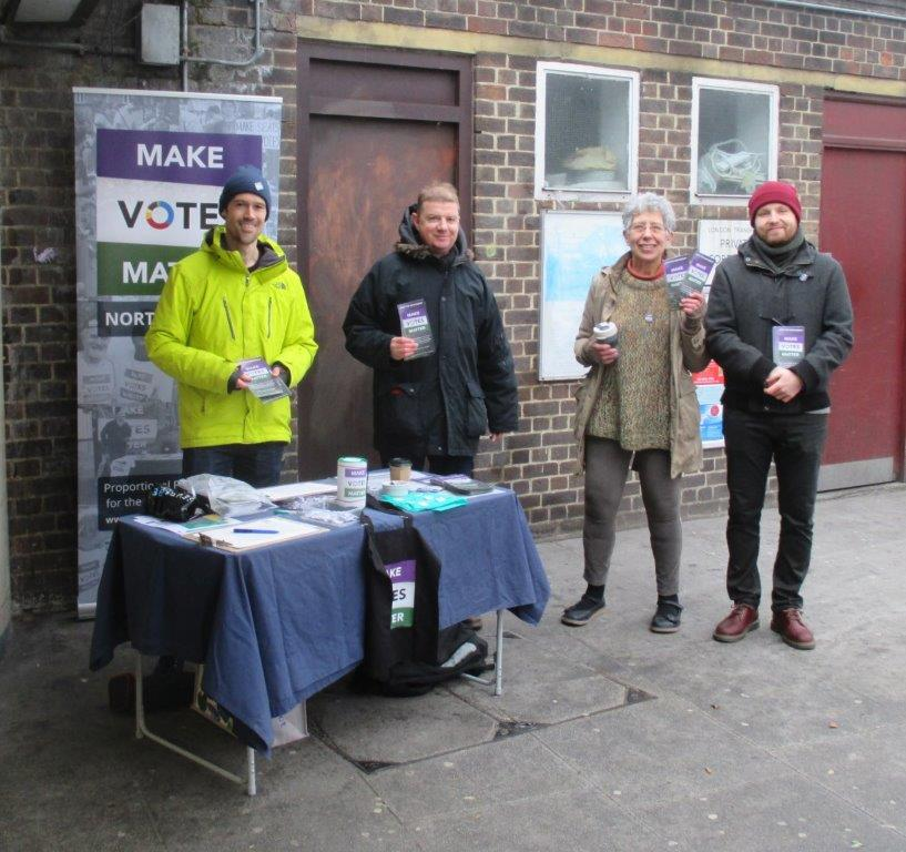 MVM East London at a previous street stall.