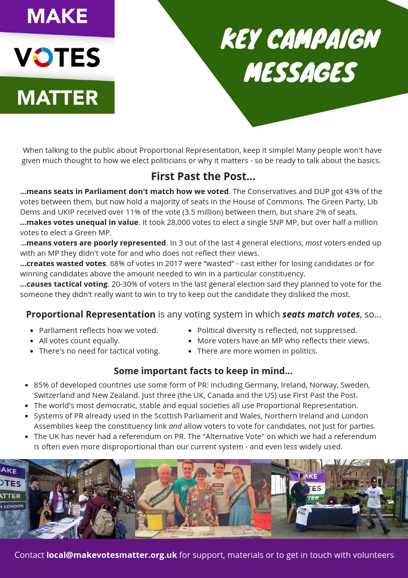 Key Campaign Messages