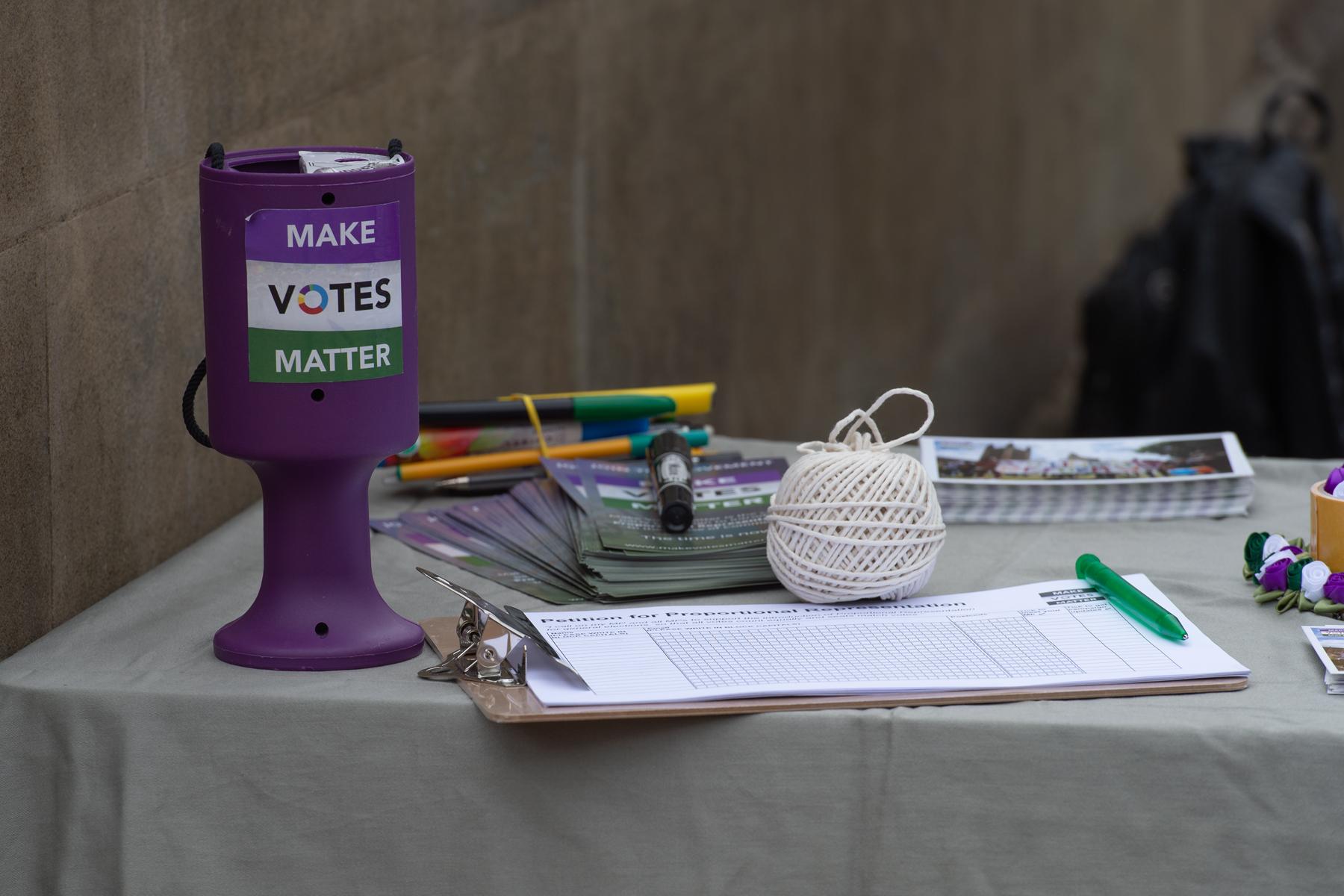 Make Votes Matter street stall