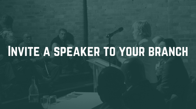 Invite a speaker to your branch