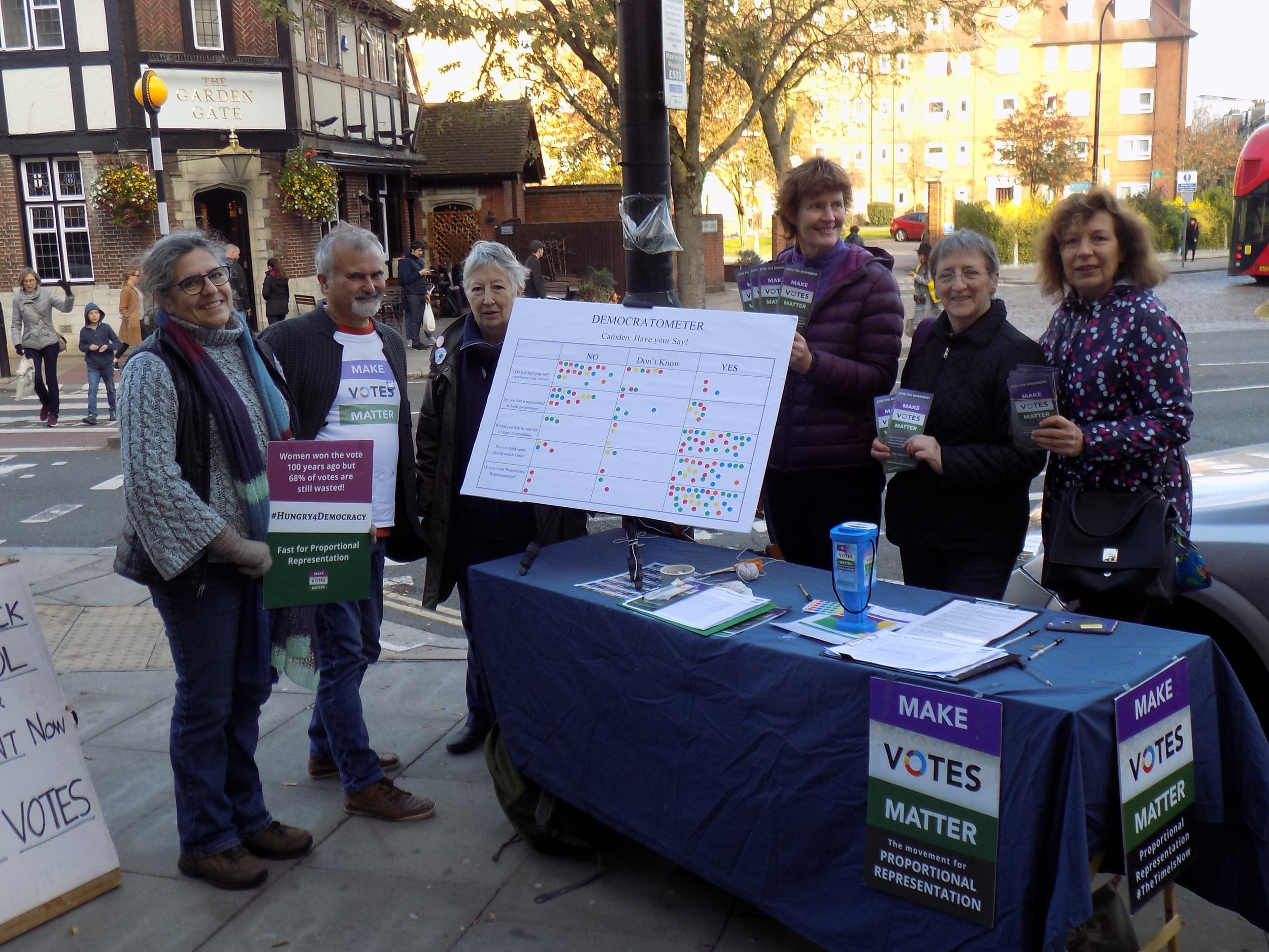 The team out in South End Green during a previous event