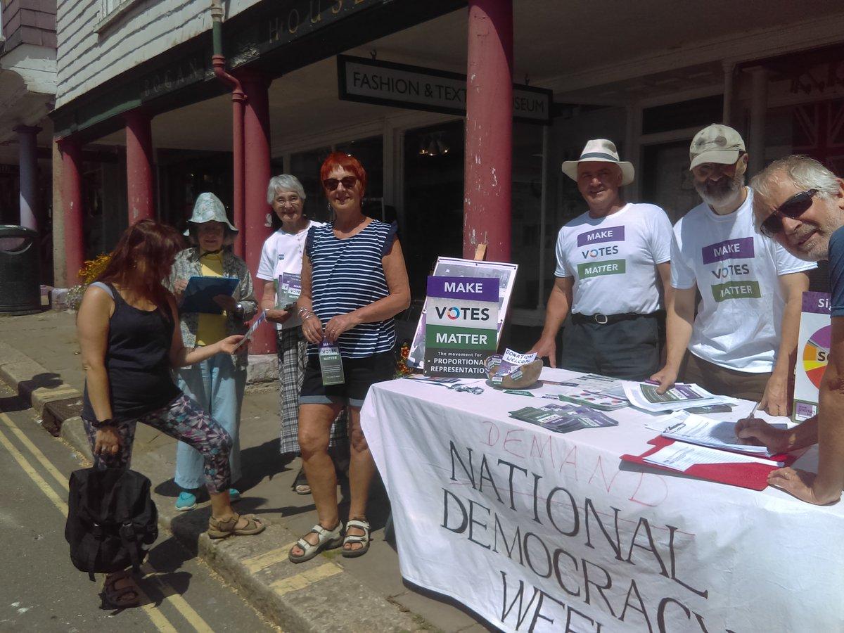 MVM Totnes during last summer's Demand Democracy Day